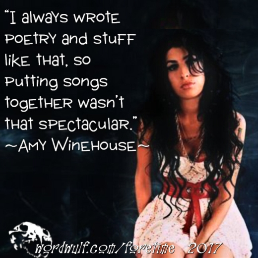4-4-2017 – foretime – Amy Winehouse - poetry