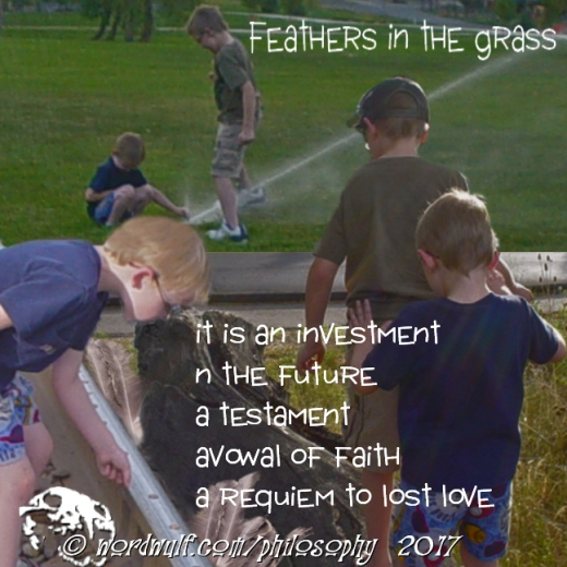 8-1-2017 ~Feathers in the Grass~ Letters 30 X